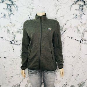 L.L.Bean Sweater Fleece Full-Zip Jacket Green